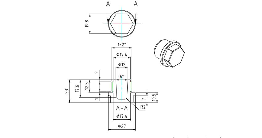 Čep - diagram
