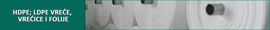 HDPE; LDPE vreće, vrećice i folije