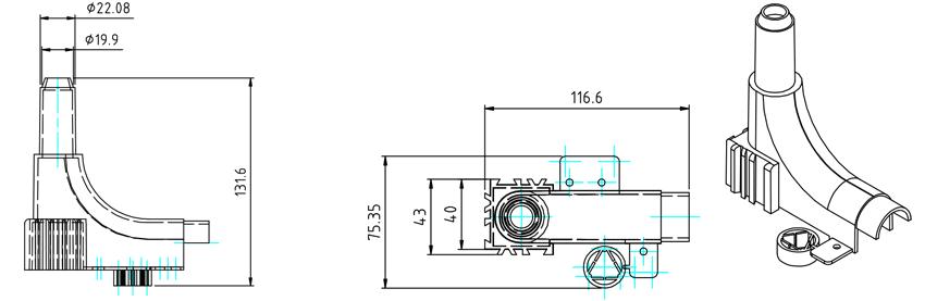 Luk za vođenje cijevi - diagram